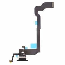 Conector de Carga Completo con Cable Flex para Apple iPhone X Negro